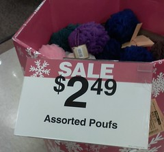 assorted poufs (TheDamnMushroom) Tags: bath pouf