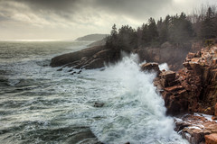 burst (Nate Parker Photography) Tags: ocean blue sea seascape storm aqua surf waves maine newengland wave cliffs granite burst atlanticocean barharbor acadianationalpark haveaniceday bigwave