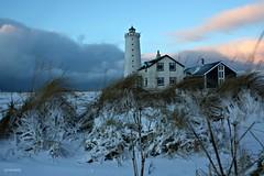 lighthouse view hff ?!? (JorunnSjofn) Tags: winter lighthouse snow cold nature grass canon iceland frost view frosty reykjavik nd grotta 2011 jorunn lowpov nd06