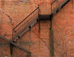 Fire Escape ~ Explore (2bmolar) Tags: brick fire escape shenandoah dilapidated schuylkillcounty tp52