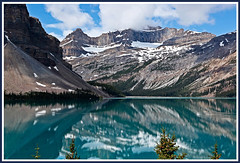 Mistaya Lake - Rocky Mountains Beauty -  Alberta, Canada. (Bill E2011) Tags: world snow canada mountains beauty rockies turquoise lakes canadian forests rugged trekker scenicsnotjustlandscapes slicesoftime worldtrekker coppercloudsilvernsun flickrawardgallery ringexcellence blinkagain greaterp