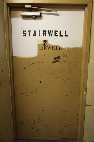 Unlatched stairwell 2 fire door