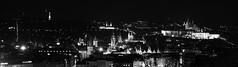 Prague at night from Vitkov / Noční pohled na Prahu z Vítkova (Jan Prax) Tags: blackandwhite bw panorama church architecture night evening town nightshot czech prague capital praha czechrepublic vecer longtime mesto