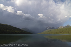 "Stormy Bowman Lake • <a style=""font-size:0.8em;"" href=""http://www.flickr.com/photos/63501323@N07/6638882291/"" target=""_blank"">View on Flickr</a>"