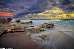 Receding Waves at Carlin Park Beach Jupiter Florida