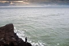 endless sea (Josh Corke) Tags: ocean sea bali cliff cloud water rock clouds indonesia rocks waves lot minimalism tanahlot tanah