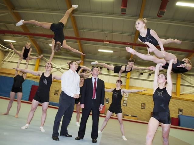 Hugh Robertson visits gymnastics academy in Durham