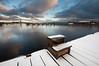 Winter harbour (- David Olsson -) Tags: blue winter snow cold ice clouds port dock nikon december cloudy sweden harbour sigma karlstad 1020mm 1020 snö värmland hamn 2011 noboats d5000 kanikenäset davidolsson ministairs kanikenäshamnen 2exposuremanualblend ginordicjan12