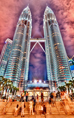 Surreal View On Petronas Tower  Kuala Lumpur (Sprengben [why not get a friend]) Tags: world city winter summer sky music art clouds skyscraper lights amazing nikon chinatown traffic artistic time gorgeous awesome illumination police style symmetry divine international formulaone malaysia stunning batman metropolis kualalumpur charming foreign sheraton fabulous unionflag hdr klcc petalingstreet linear gothamcity engaging travelphotography kualalumpurinternationalairport royalselangorclub d90 merdekasquare dataranmerdeka kualalumpurtower klangvalley peninsularmalaysia medanpasar bangunansultanabdulsamad travellight jalantunkuabdulrahman d3s tmtower klcclrtstation sultanabdulazizshahairport  sprengbenurban harimerdekaparadepetronastower