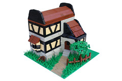 Castle House WIP 3 (AceBricks) Tags: house castle inn lego medieval tavern