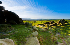 Light and Shadow (Kazuto Shiomitsu ) Tags: sky grass rock stone canon landscape countryside farm yorkshire hill north leeds boulder lee 5d harrogate slope 1740 dales otley crag almscliffe huby rigton