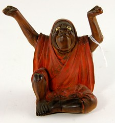 43. Carved Chinese Wood Figure