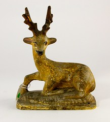 49. Antique Chalkware Deer