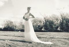 lady in wait. (Casey David) Tags: wedding sky blackandwhite white black girl pose waiting dress weddingdress