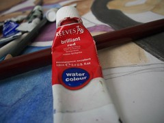 Picture 1019 (-michellle) Tags: red art watercolor paint watercolour brilliantred