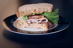 Panera (Chris Meium Photography) Tags: wood white black minnesota st canon turkey tomato bread table lunch paul 50mm bacon bravo cities stpaul twin plate tc twincities sandwhich mn panera letuce 50d strobist