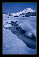 A Cold and Beautiful World (Michael Bollino) Tags: world winter mountain snow cold beautiful oregon dawn landscapes northwest cascades mthood hood