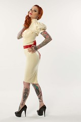 Jane Doe Look 01-9 (pkphoto2011) Tags: london fashion tattoo studio unitedkingdom fulllength latex highkey brentcross janedoelatex canon2470mmf28l ninakate canon7d adrianpinistudio look01 january2012
