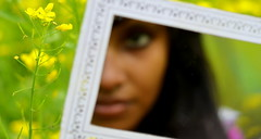 It was you.. .[Explored] (Sakia Rafique) Tags: reflection face yellow mirror dof yellowflower mustard dhaka mirrorgirl singleflower yellowfield dhakabangladesh beautifulbangladesh mirrorreflects nikond5100 sakiarafique 16thjan2012 50mmfocus explored16thjan2012 explored4thjan16