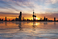 Kuwait City (SanforaQ8) Tags: camera city blue sunset sky orange tower lens landscape seaside nikon cloudy free photographers finepix fujifilm kuwait q8 2470mm s5pro sanfora nadamarafie nstudiolivecom 66383666