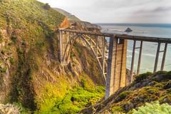 Rainbow Bridge (abaranda) Tags: ocean california ca bridge beach northerncalifornia bigsur montereybay highway1 pacificocean coastline montereycounty rainbowbridge bixbybridge bixbycreek bixbycreekbridge