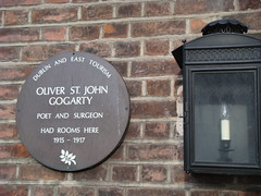 Photo of Oliver St. John Gogarty brown plaque