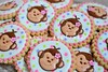 Monkey Cookies (Sweet Pudgy Panda) Tags: pink flower girl cookies monkey sweetpudgypanda