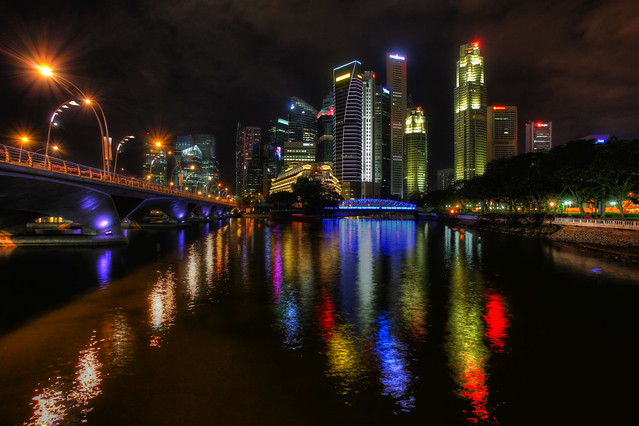 Singapore - Night Skies at the River
