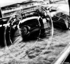 Steering at the Star (Dion Cragg) Tags: blackandwhite bw car thailand mercedes benz blackwhite automobile bangkok mercedesbenz hdr classiccars steeringwheel vintagecars motorcars jesadamuseum