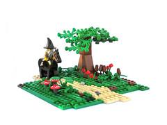 Hunting for Mushrooms (ernald) Tags: castle mushroom lego path