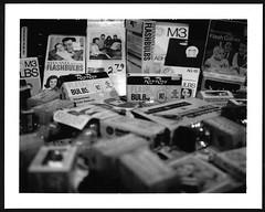 Need a Light? 2 (adoephoto) Tags: blackandwhite bw film polaroid instant fujifilm landcamera flashbulb flashcube portraitkit