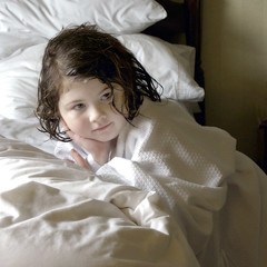 Bedtime (h_roach) Tags: cute girl square child sweet innocent thoughtful sheets bedtime greatportrait