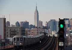 View from 46th St / Bliss Stop - Sunnyside, Queens NYC (ChrisGoldNY) Tags: city nyc newyorkcity urban newyork skyline architecture train subway day forsale tracks clear queens posters empirestatebuilding covers gothamist 46thst bliss sunnyside bookcovers 7train albumcovers qns greenlights thechallengefactory coversbook chrisgoldny chrisgoldberg chrisgoldnychris goldbergpostersfor salealbum chrisgold chrisgoldphotos