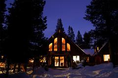 Lost Trail Lodge (scott in sf) Tags: winter snowshoe twilight tahoe sierra losttraillodge