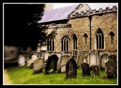 Churchyard (veggiesosage) Tags: church graveyard lensbaby cemetary peterborough gx20 aficionados