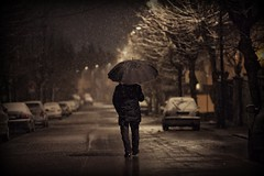 The first snow (Orione Photographer) Tags: street people urban italy snow laura canon photography italia raw bokeh candid streetphotography tuscany toscana cinematic inverno montecatiniterme ef135mmf20 5dmarkii orione1959