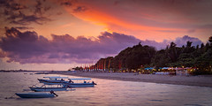 Optimistic Sunset (Nolan Caldwell) Tags: sunset bali canon indonesia coast boat coastline sanur the4elements leefilter purisantrian eos5dmarkii sunsetcoastline