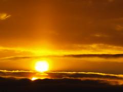 die doppelte Sonne (Hans-Jrgen Bckmann) Tags: sun sunrise sonne sonnenaufgang 2012