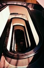 Black hole (saviorjosh) Tags: travel italy holiday abstract vatican rome museum stairs lomo lca xpro lomography italia fuji velvia crossprocessing rvp stairways 100f may2011