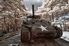 The M4 Sherman in Infrared (Shutter wide shut) Tags: ir philippines canoneos20d infrared baguio fortdelpilar m4shermantank