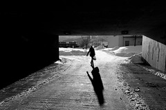 Notodden underpass (Jostein Nilsen Photography) Tags: street winter light shadow bw snow cold beautiful canon photography iso100 photo image picture streetphotography explore getty 24mm grayscale f80 gettyimages sandisk notodden explored 5dmk2 canon5dmarkii bestcapturesaoi josteinnilsen rememberthatmomentlevel1 rememberthatmomentlevel2 rememberthatmomentlevel3 lensblr photographersontumblr