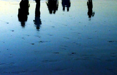 Watercolours. (jathdreams) Tags: ocean sea india reflection beach water colours indianocean juhu d5100