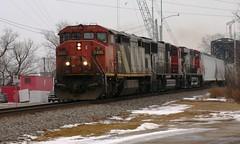 Timed Right (Wide Cab) Tags: cn train freight canadiannational oshkoshwi a447 neenahsub