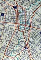San Antonio TX 1948 (davecito) Tags: blue red sanantonio texas map cities 1940s planning cartography urbanplanning drafting ashburn streetmap citymap oldmaps