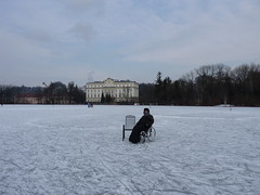 take a seat (sharkener) Tags: winter music lake ice frozen cool chair wheelchair sound edelweiss paraplegic trapp rollstuhl leopoldskron querschnittslähmung
