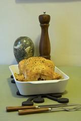 Baked Chicken Dinner (Didriks) Tags: wood chicken sabre vase bake porcelain pillivuyt carvingset versodesign