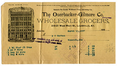 The Ouerbacker-Gilmore Company (deatonstreet) Tags: antique kentucky company storefront receipt font louisville grocery gilmore 1897 ouerbacker