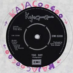 fan art - KajaGooGoo - Too Shy (Leo Reynolds) Tags: art canon eos iso100 fan ebay vinyl fanart single record squaredcircle 60mm f80 disc platter 45rpm 7inch 0125sec 40d hpexif 033ev xleol30x sqset101 xxx2014xxx