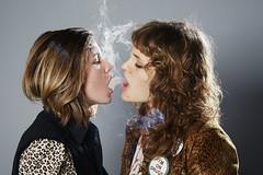 Saara and Glenn (Juophoto) Tags: girls portrait animal studio print photography weed im smoke blond drugs shotgun blonds lepoard