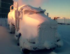 I think it snowed (Dan King Alaskan Photography) Tags: snow alaska truck blizzard oilfield deadhorse peterbilt prudhoebay